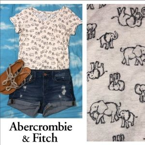 Abercrombie and Fitch Elephant Shirt size Small